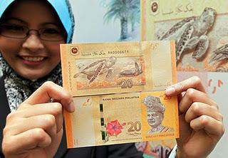 Duit RM20 - gambar dari Bernama